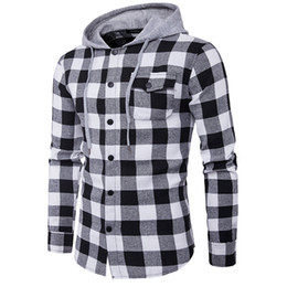 western fashion shirts UK - New Western Hip hop Plaid Shirt Men High Street Fashion Swag Clothing Loose Hipster Longline Male Long-Sleeved Hoodie Shirt