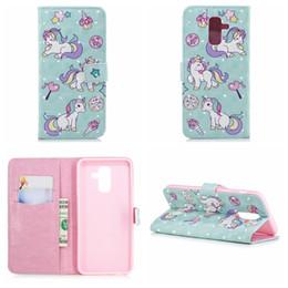 Y3 Wallet NZ - 3D Unicorn Leather Wallet Case For Galaxy Note 9 J8 A8 Plus 2018 Huawei P20 Pro Y3 Y5 Y6 Y8 2018 Flower Flamingo Lace Butterfly Flip Cover