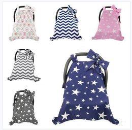 car cart 2019 - Newborn Baby Car Seat Canopy Nursing Cover Bowknot Baby Stroller Sunshade Scarf Breastfeeding Pushchair Cover Prams Shop
