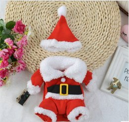 Wholesale santa costume female for sale – halloween Christmas Pet Dog Costumes Christmas Dog Standing Make up Clothes Dog Cat Santa Cosplay Coats With Christmas Hat
