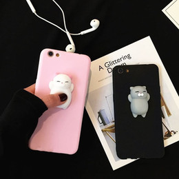 $enCountryForm.capitalKeyWord NZ - Hot Sale Squishy 3D Anti Stress Sleep Kitty Cat TPU Soft Phone Case Cover For Iphone X 8 8Plus 7 7plus 6 6s Plus 5 5s SE E84