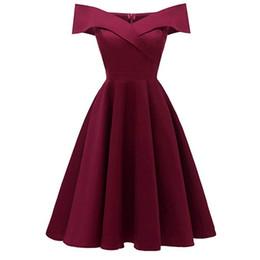 $enCountryForm.capitalKeyWord UK - Sexy Cap Sleeve Homecoming Dresses Burgundy Satin Short Graduation Prom Dress Cocktail Dresses Mini Evening Party Gowns