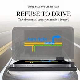 holder display phones 2019 - H6 Smartphone Projector HUD Head Up Display Holder Car GPS Navigator Car Mount Stand Phone Holder Black Non Slip Mat @12