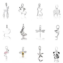 Sterling Silver Pendant Charms Australia - one piece 925 sterling silver pendant of cute Animals for Women Sterling Silver Jewelry making Necklace bracelet accessories