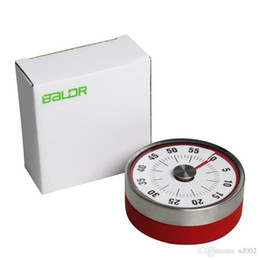 Wholesale BALDR 8cm Mini Mechanical Red Inverted Timers Kitchen Tool Stainless Steel Round Shape Cooking Clock Alarm Magnetic 25ym Z