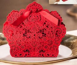 BonBonniere gifts online shopping - 100pcs European style Hollow out lace Wedding box Candy Box gift bonbonniere wedding favour boxes