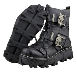$enCountryForm.capitalKeyWord NZ - retro cowhide genuine leather men working boots safety military combat army boots gothic skull punk motorcycle martin boots male zx800