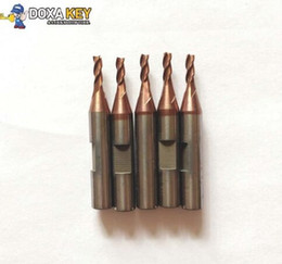 Chevy Wholesale Canada - 2pcs lot Best Quality Tungsten steel CONDOR Mini XC-007 carbide end milling cutter Key Cutter 2.5MM with slot