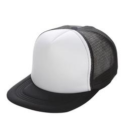 Caps Black Blank UK - Plain Trucker Hats for Men Women Spring Summer Blank  Mesh Snapback d574eddc08fb