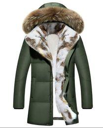 $enCountryForm.capitalKeyWord NZ - Winter Men's Duck Down Jackets Coats Real Rabbit Fur Men Women Lovers Fashion Thick Warm Parka Classic Mens big size 5XL.