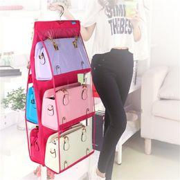 $enCountryForm.capitalKeyWord Australia - Family Organizer Backpack handbag Storage Bags Be Hanging Shoe Storage Bag High Home Supplies 6 Pocket Closet Rack Hangers