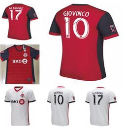253710065 2018 Toronto FC home Soccer Jersey 18 19  10 GIOVINCO Red Soccer Shirt  Customized MLS football uniform Sales