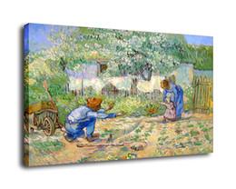 $enCountryForm.capitalKeyWord UK - Cartoon Art Van Gogh First Steps,Oil Painting Reproduction High Quality Giclee Print on Canvas Modern Home Art Decor E077