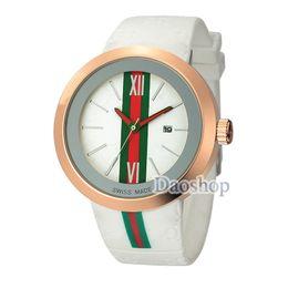 42fdcb18 2018 Fashion Casual Men Women sport watches Brand Silicone Strap  Wristwatches Rubber Quartz Green red Green Striped Wrist Watch gc Unisex