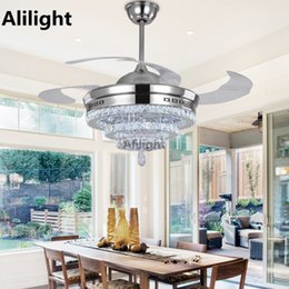42 Inch Modern Invisible Fan Lights Acrylic Leaf Led Ceiling Fans 110v-220v Wireless Remote Control Ceiling Fan Light 42-yx0098 Spare No Cost At Any Cost Ceiling Fans