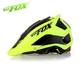 mtb helmet blue green Canada - BATFOX 2018 Newest Bicycle Helmet Cycling Helmet For MTB Road Bike Helmets Ciclismo M L(56-62)CM bike