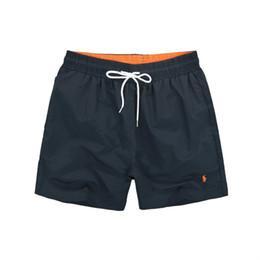 Hommes d'été Pantalons courts Marque Vêtements Maillots de bain Nylon Hommes Marque Beach Shorts Petit cheval Maillots de bain Shorts de bord en Solde