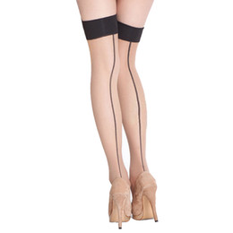 China Women Ladies Sexy Stocking Top Sheer Stay Up Thigh High Stockings Pantyhose Hot Sale Over the Knee Stockings cheap hot stocking fashion suppliers