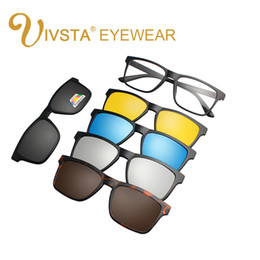 Discount polarized clip flip up - IVSTA New Clip On Sunglasses Men Polarized Magnet Sunglasses Magnetic Clip Sunglasses for Men Polarized Flip Up Prescrip