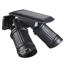 Солнечный настенный светильник движения человека ИК-датчик 14 светодиодов двойной головкой регулируемый высокий выход крыльцо свет открытый светодиодные солнечные фонари водонепроницаемый