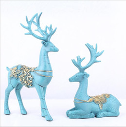 $enCountryForm.capitalKeyWord Canada - Luxury Art Crafts Christmas Polyresin Deer Deer Statue Animal Figure Continental Resin Ornaments Crafts Deer Gift for Friends