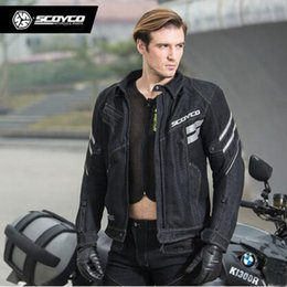 Breathable Summer Motorcycle Jackets Australia - New Scoyco Motorcycle Mesh Breathable Riding jackets Men's Locomotive Reflective jackets Summer Motorbike Racing clothes