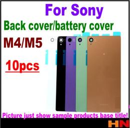 Discount replacement for xperia - 10pcs for Sony Xperia M5 E5603 M4 Aqua E2303 E2333 E2353 Housing Battery Cover Case Rear Battery Door Back Housing cover