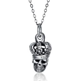 9bd0c6787ee1 2018 Nueva llegada de plata de ley 925 moda vintage cráneo colgante