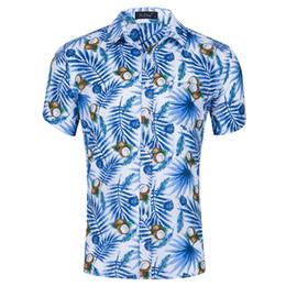 Ss Shirts NZ - Men's Short Sleeve Hawaiian Shirt Summer Cotton Floral Men Casual Beach Hawaii Shirts Male Blouse SS-011