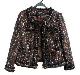 Beaded Jackets Women Canada - Women winter coat Luxury Noble Short Banquet Beaded tassel Ladies Custom banquet OL suit jacket