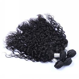 $enCountryForm.capitalKeyWord Australia - Indian Natural Wave 9A Unprocessed Indian Virgin Human Hair Extensions 3 4 Bundles Lot 100% Human Hair Weaves