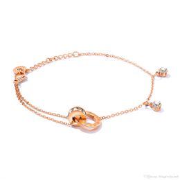 $enCountryForm.capitalKeyWord NZ - Rose Gold Roman Numerals Charm Bracelets Women Love Eternal Stainless Steel Chain BFF Forever Friendship Bangle Jewelry GS930