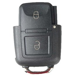 remote systems Australia - 2Buttons Remote Key Fob Case Shell For Car VW Volkswagen Seat Skoda