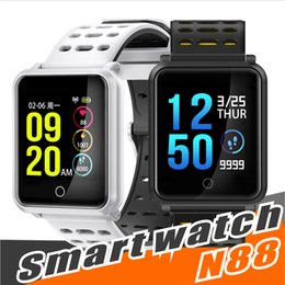 Discount swatch touch - N88 Smart Watch Men Smartwatch Women Waterproof Heart Rate Blood Pressure Monitor Sport Bracelet Fitness Track Band Alar