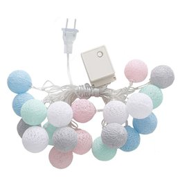 $enCountryForm.capitalKeyWord NZ - 20 LEDs Cotton Ball String Lights Xmas Lover Wedding Party holiday Bedroom Decorations Fairy Lamp Galands Battery Operated