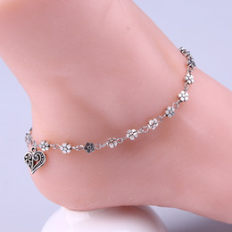 Party Jewelry Adjustable Bracelet for Women Heart Charm Gold Plated Blacelets & Bangles Friend Gift Heart-shaped anklets