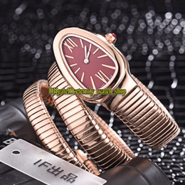 $enCountryForm.capitalKeyWord NZ - 8 Colors Cheap Luxry Serpenti Tubogas 103002 Red Dial Swiss Quartz Womens Watch Rose Gold Case Double loop Bracelet Fashion Lady Watches 07