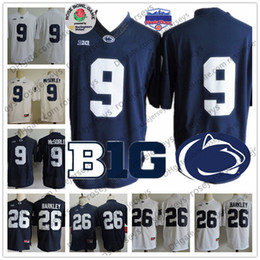 276158a02 Penn State Nittany Lions  9 Trace McSorley  26 Barkley  2  88 Mike Gesicki  Navy Blue White PSU College Football NCAA Fiesta Bowl Jerseys