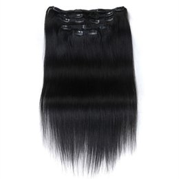 $enCountryForm.capitalKeyWord UK - 8pcs set  120g set one set Indian human hair Color 1# 1B#,2, 4,14,24,27,60,613,99J Clip In Hair Extensions