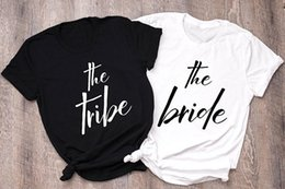 Wholesale Skuggnas The Bride Unisex Shirt Bridesmaid Gift Bride Tribe Tee Proposal Clothing Bachelorette Party T shirt Drop ship