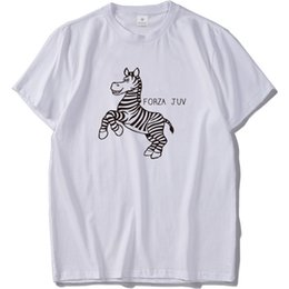 Men Tshirt Wholesale Discount Mascot Zebra Graphic Print Tee Shirt Homme  High Quality Pure Cotton Original Cool Camiseta T Shirt Male 120fdcd0c