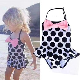 $enCountryForm.capitalKeyWord Canada - Toddler Kids Swimming Costumes Baby Girls Bow Dot Bikini Swimwear Summer Beach Tankini Bathing Suit Swimsuit Beachwear