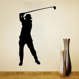 $enCountryForm.capitalKeyWord Australia - Golf Wall Decal Sticker for Kids Boys Girls Room and Bedroom Sports Wall Art for Home Decor and Decoration Golfing Silhouette Mural