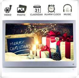 Video digital picture frame online shopping - Digital Photo Picture Frame inch Full View IPS x1080 HD Video p Advertising Machine Alarm Clock MP3 MP4 Movie Player