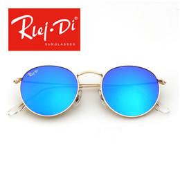 Soscar 3447 gafas de sol redondas de metal para hombre mujer marca diseñador gafas de sol UV400 alta calidad gafas de sol de moda vintage envío de la gota