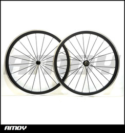 Alloy Front Carbon Australia - Alloy braking surface 700c 38mm Carbon Fiber Clincher Road Bike Bicycle Wheels with Novatec Hubs Cycling wheelset