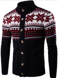 2018 новый зимний свитер мужской народный стиль вязать кардиган свитер пальто досуг на Распродаже