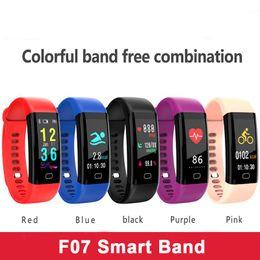 Track Steps NZ - F07 Corol smart Band Fitness Bracelet Tracker Step Counter SmartBand Health Heart Rate Pulse Blood Tracking Wristband