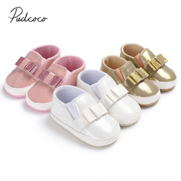 f03d388bd3974 Candy Soft Shoes Newborn New 0-18M 2018 Sole Toddler Anti-skid Sequin Girl  Brand Baby Infant Moccasin Color Bling Shoes Girl