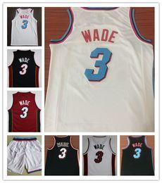 Wholesale 2018 Men City 3  Dwyane Wade jersey Stitched Whiteside basketball  jerseys White Black Red Embroidery Wade shirt Free Shipping b3605f4c0